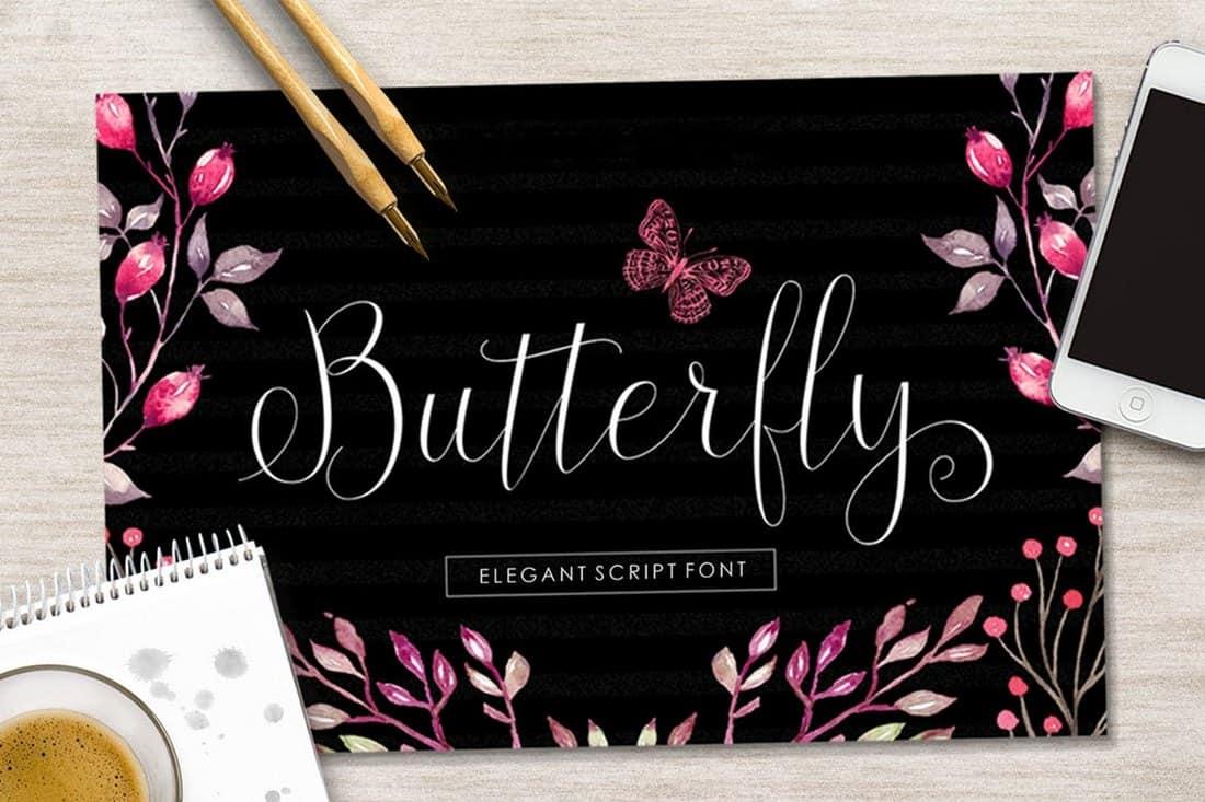 Butterfly - Elegant Script Font