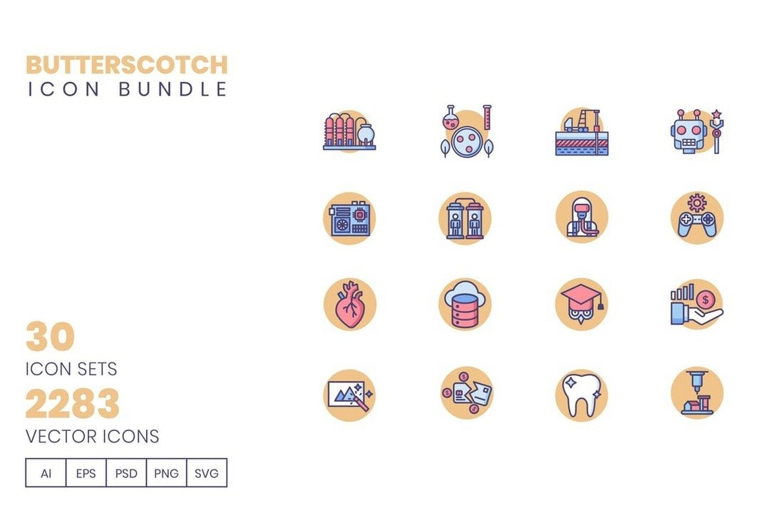 Butterscotch-Icon-Bundle-2200-icons 20+ Best Instagram Story Highlight Icons (Free + Pro) design tips  Inspiration