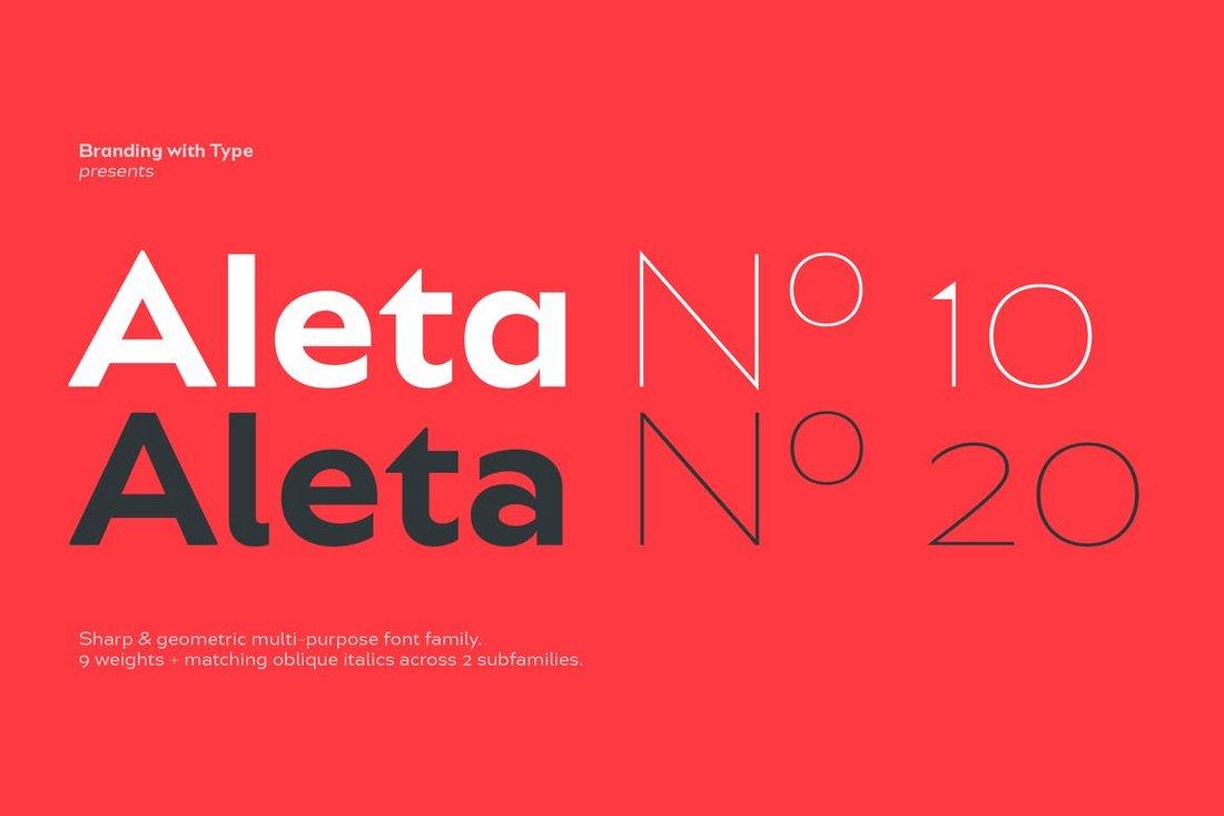 Bw Aleta - Geometric Font Family