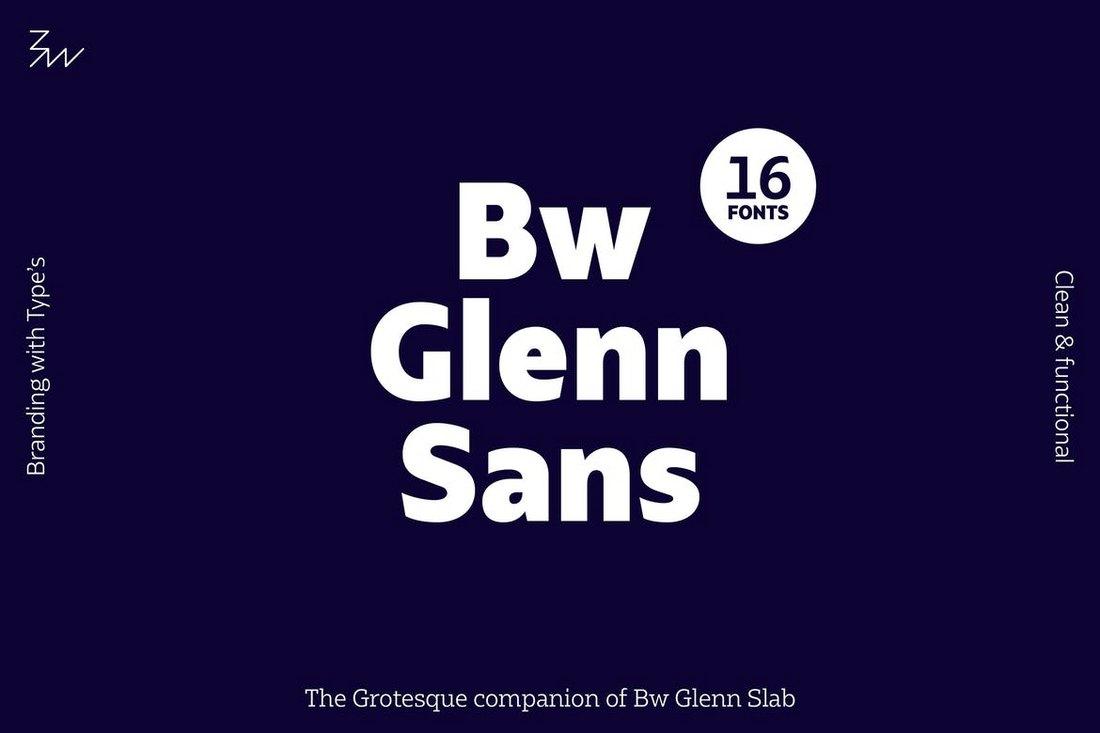 Bw-Glenn-Sans-font-family 20+ Best Fonts for PowerPoint Presentations design tips