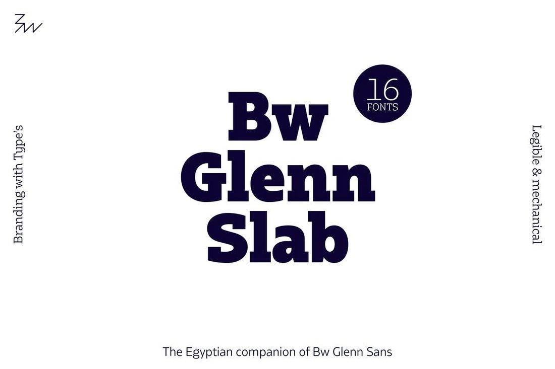 Bw Glenn Slab Serif Font Family
