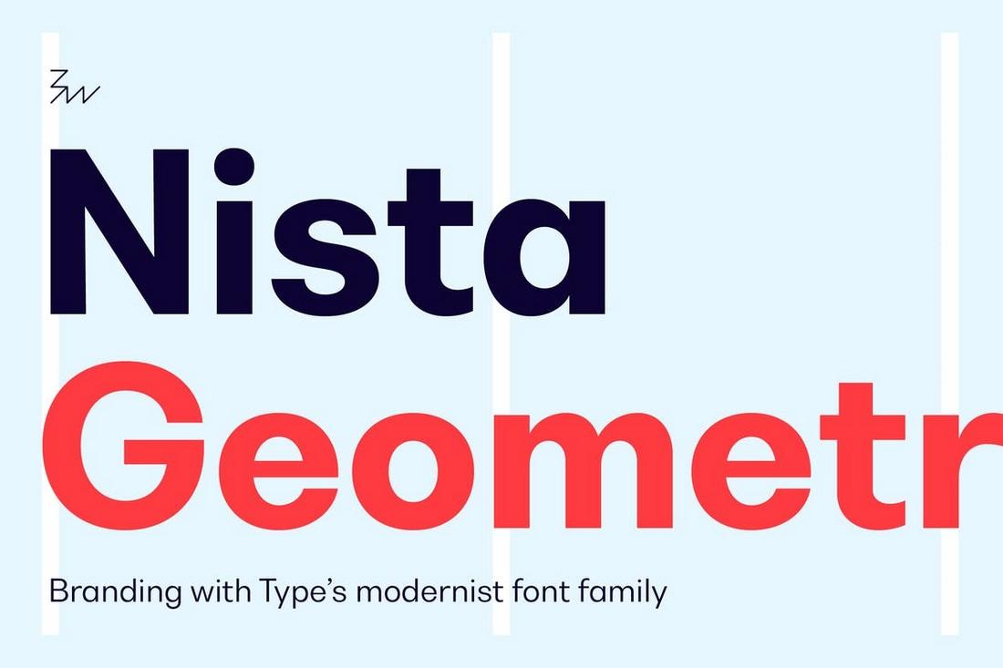 Bw-Nista-Geometric-Sans-Serif-Fonts 20+ Best Geometric Fonts 2020 (Free & Premium) design tips