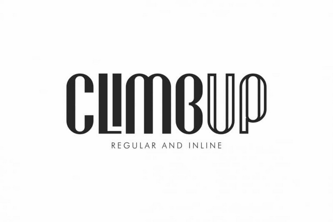 CLIMBUP - Free Decorative Font Duo