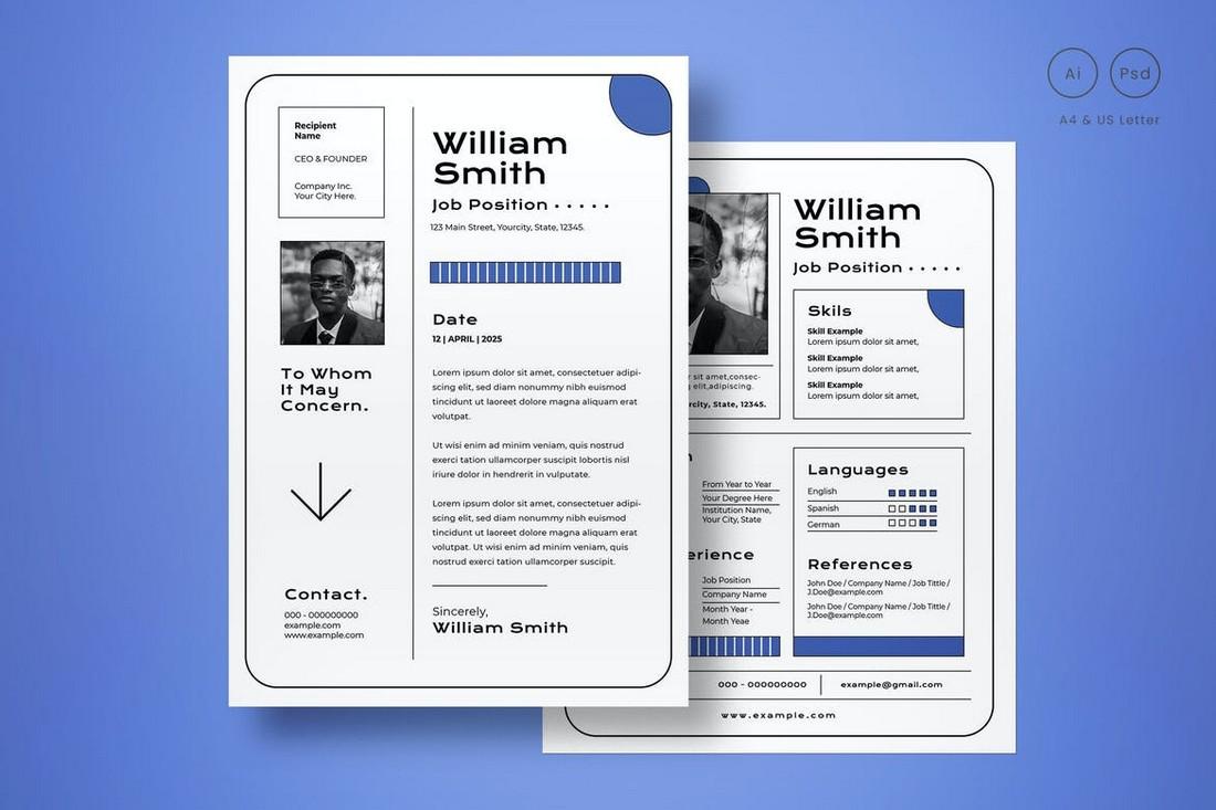 CV Resume Template for Designers