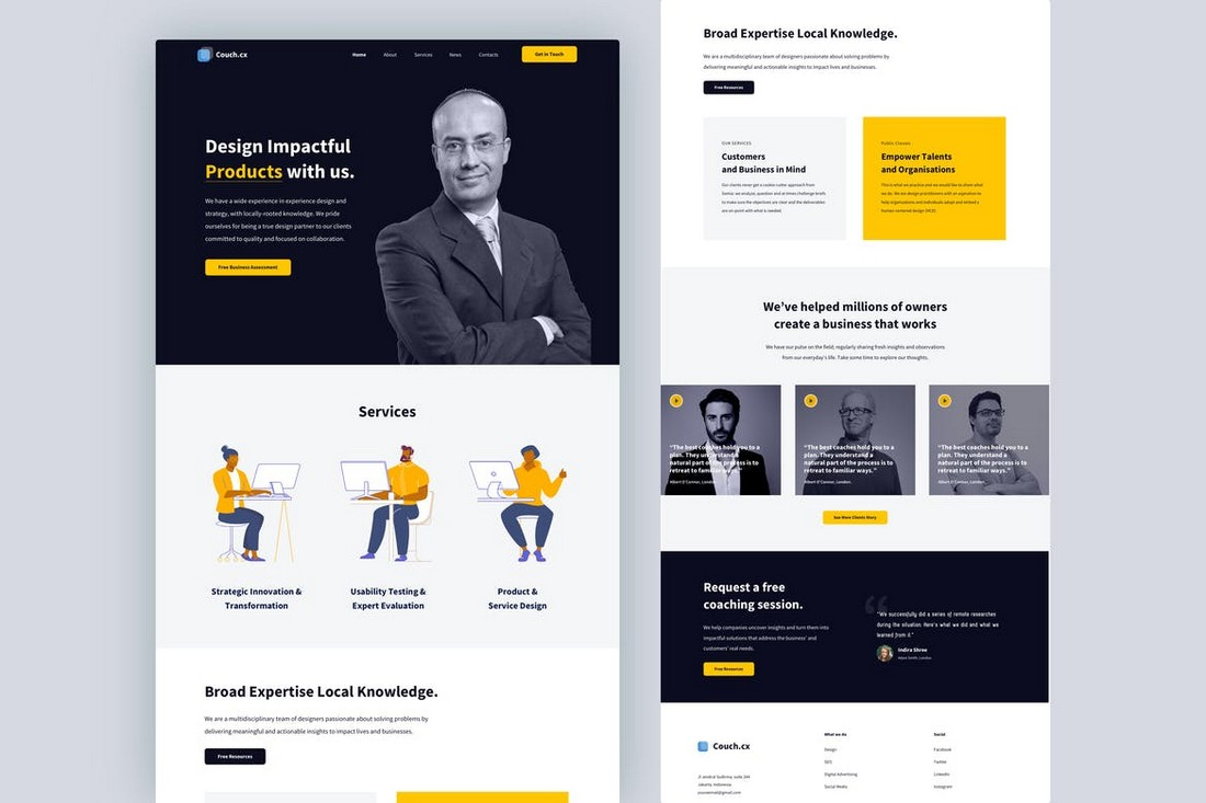 CX Consultant Landing Page Sketch Template