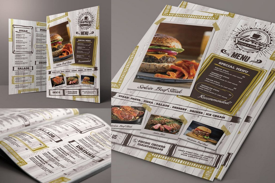 Cafe-Food-and-Drink-Menu-Template 50+ Best Food & Drink Menu Templates design tips