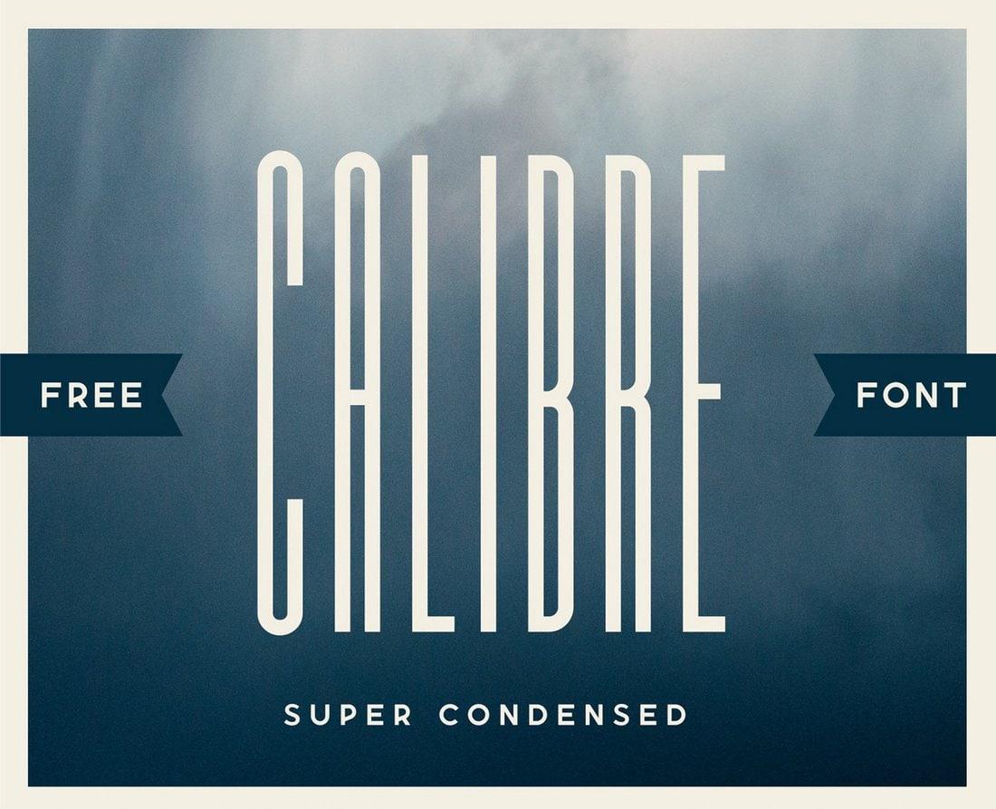 Calibre - Free Narrow Condensed Font