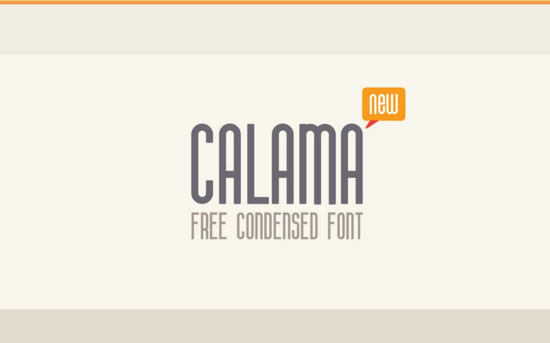 Calima - Free Rounded Condensed Font