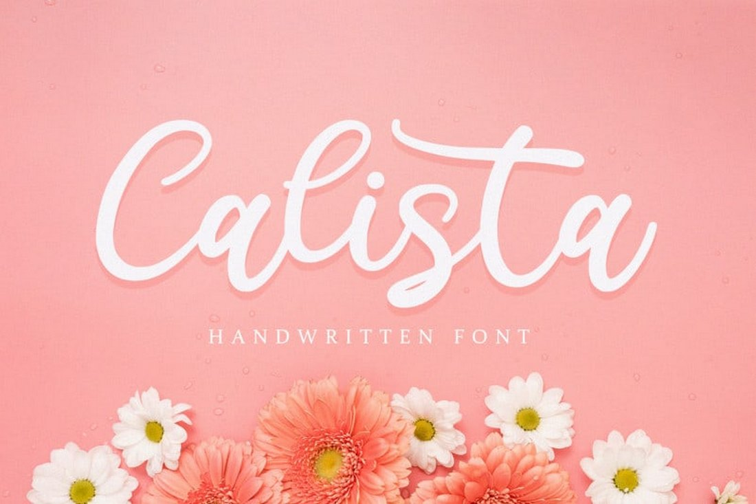 Calista - Free Handwritten Script Font