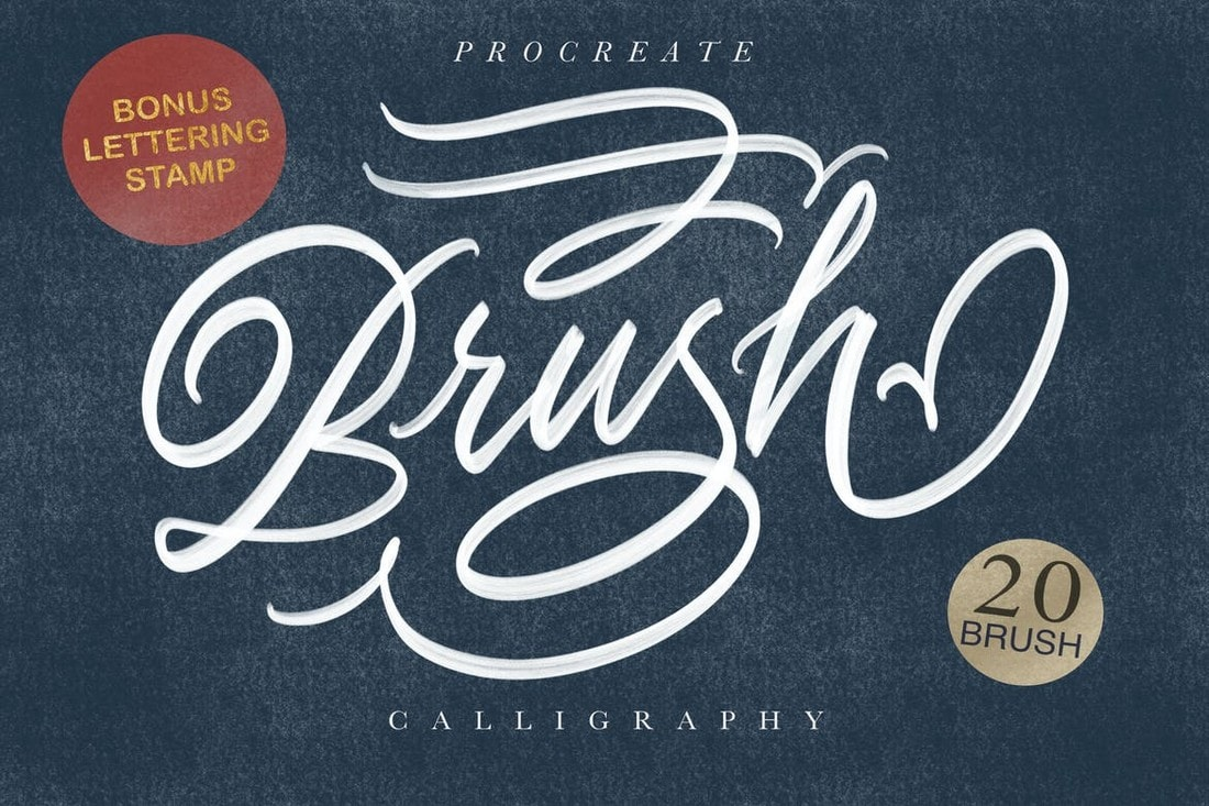 Calligraphy-Bruch-for-Procreate 30+ Best Procreate Brushes 2020 (Free & Pro) design tips