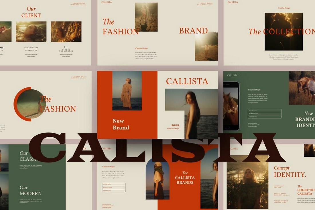 Callista - Unique PowerPoint Template