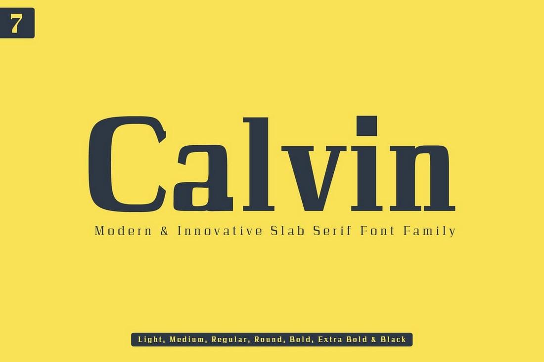Calvin-Slab-Serif-Font-Family 50+ Best Slab Serif Fonts of 2021 design tips