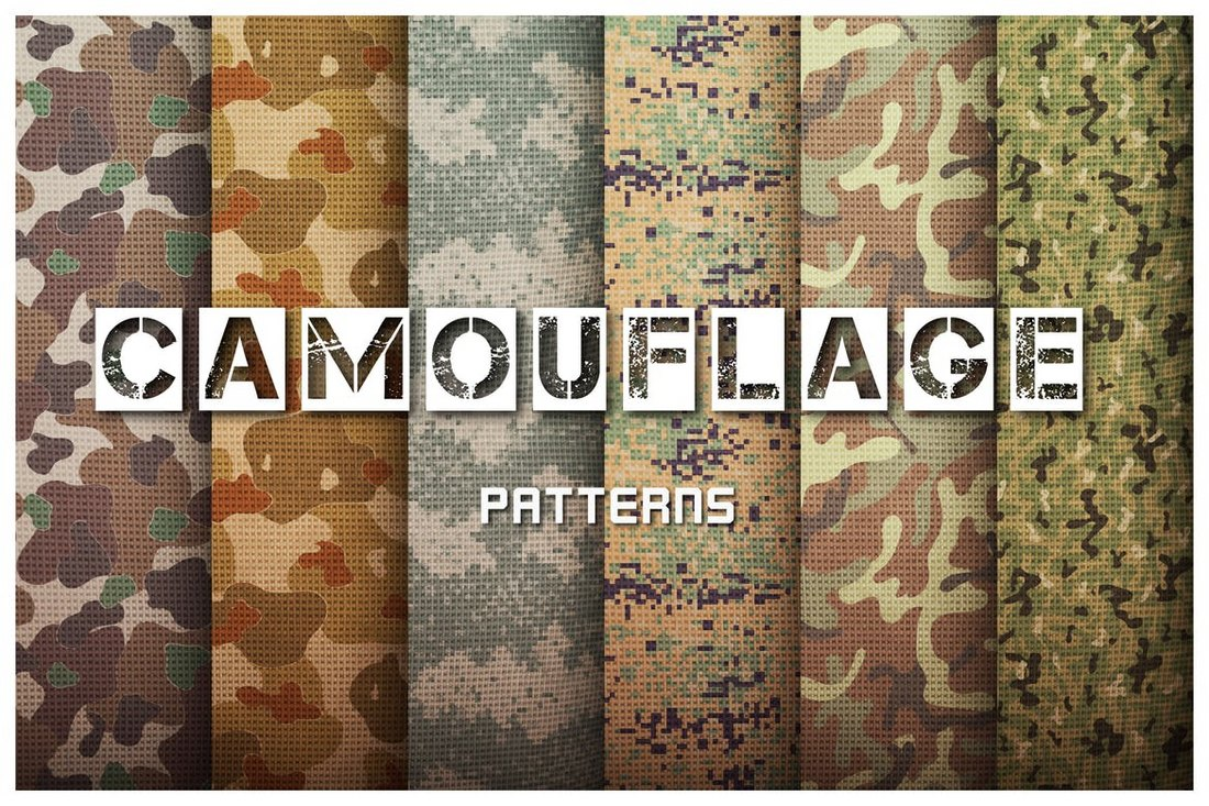Camouflage-Patterns-Set 50+ Best Free Photoshop Patterns 2021 design tips