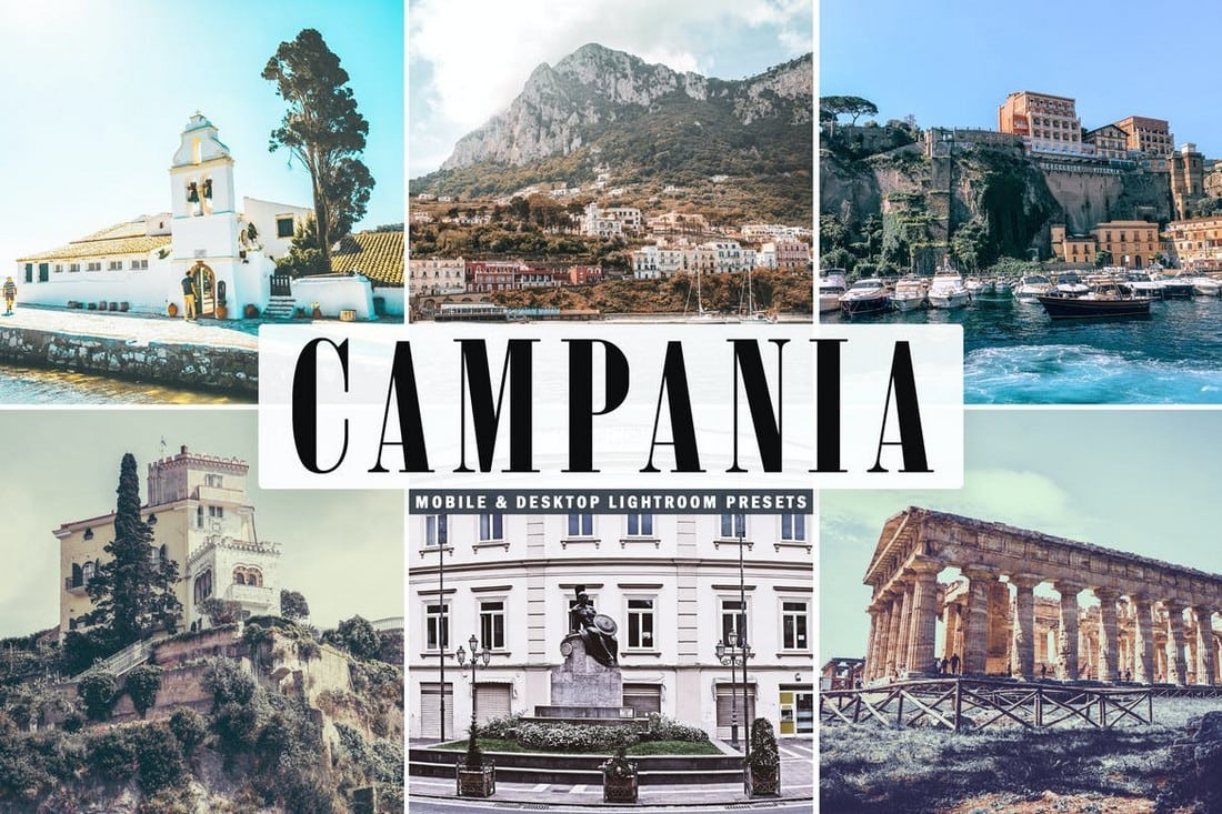 Campania - Mobile & Desktop Lightroom Presets