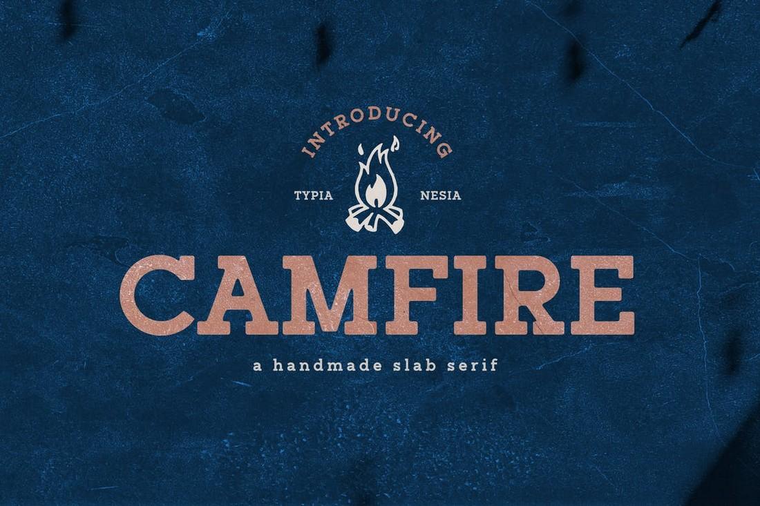 Campfire - Handmade Slab Serif Font
