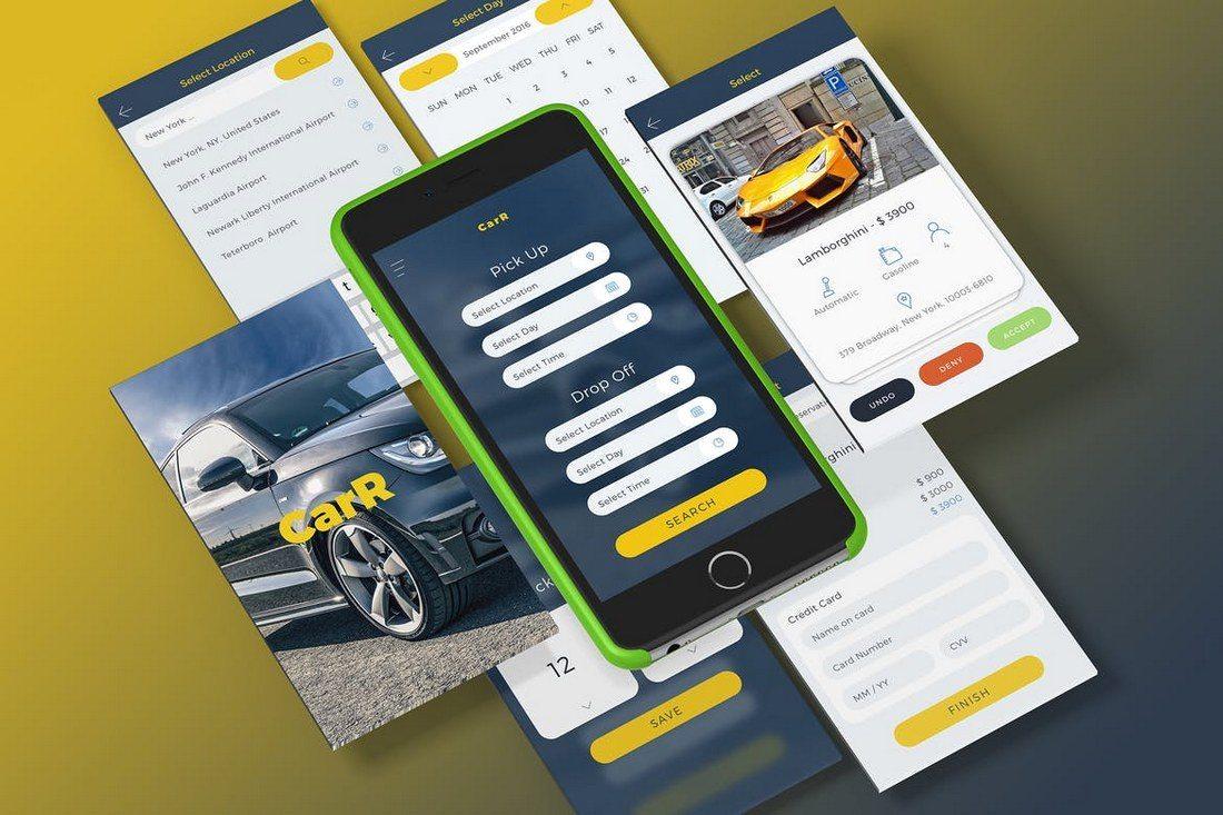 CarR-Car-Rental-Sketch-Mobile-UI-Kit 40+ Best Sketch Templates of 2020 design tips  Inspiration|sketch|templates