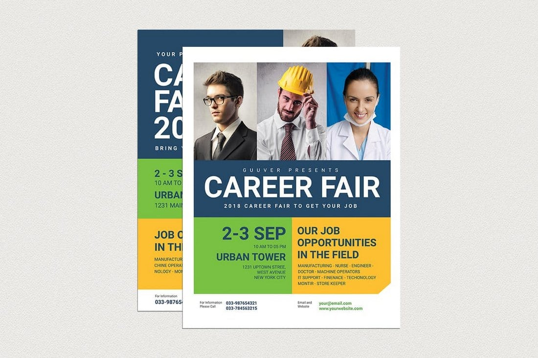 Career-Fair-Flyer 20+ Best Event Flyer Templates design tips