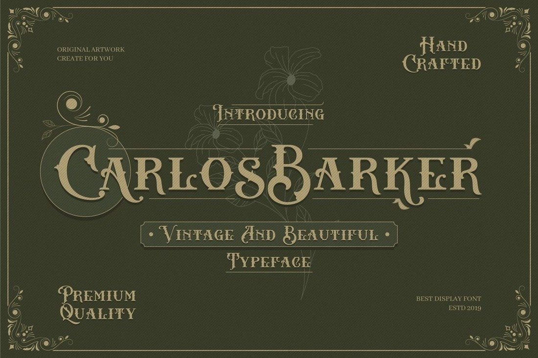 Carlos-Barker-Vintage-Victorian-Font 30+ Best Tattoo Fonts & Lettering design tips  Inspiration|tattoo