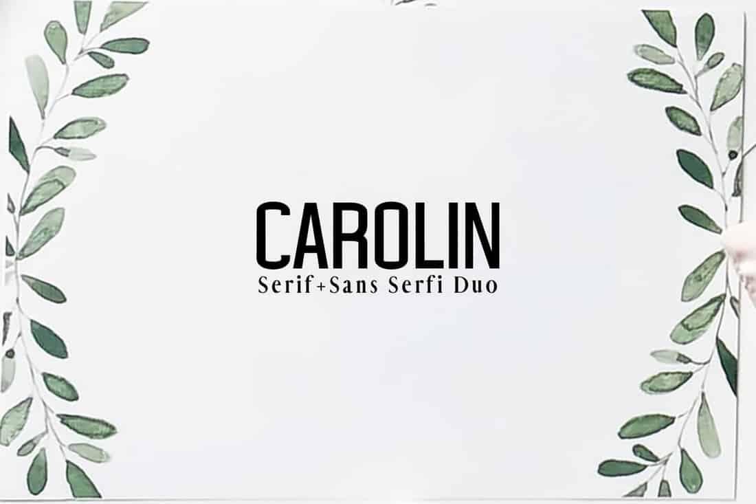 Carolin Duo Font Family Pack