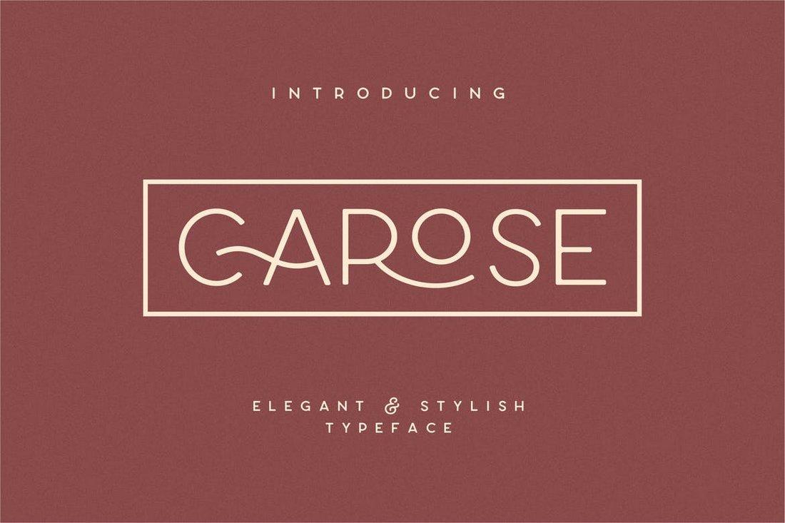 Carose Sans- 6 Elegant Monogram Fonts