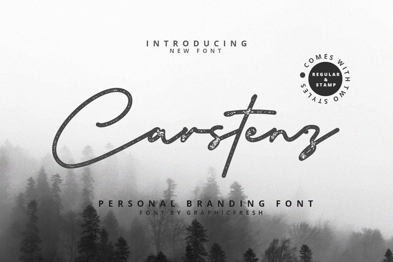 Carstenz Vintage Typeface