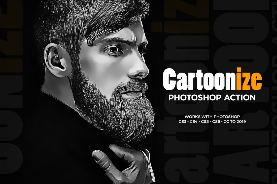 Cartoonize Photoshop Action