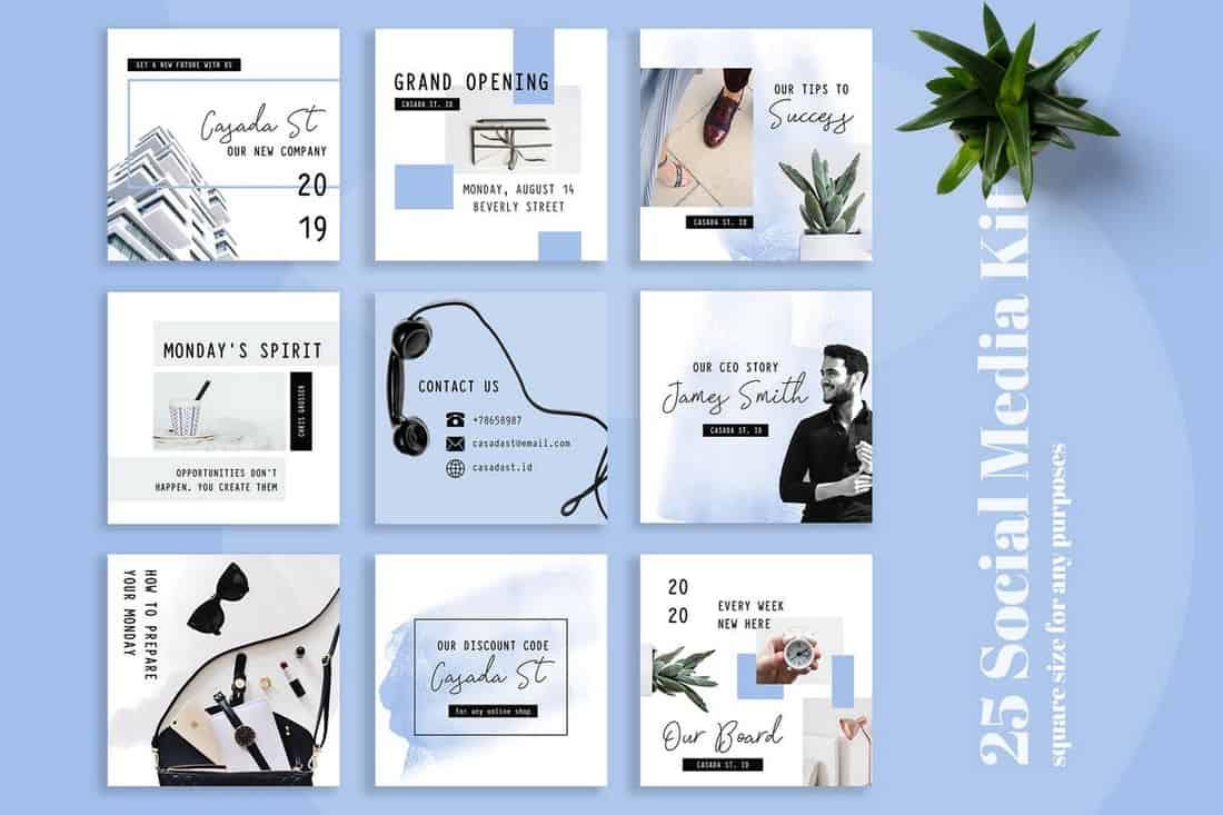 Casada - Minimal Social Media Kit