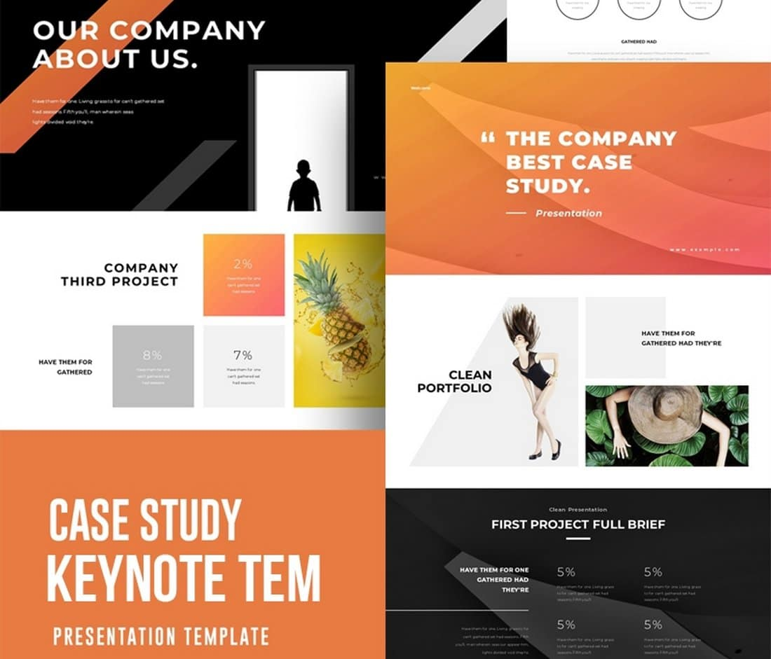Case Study - Free Keynote Template