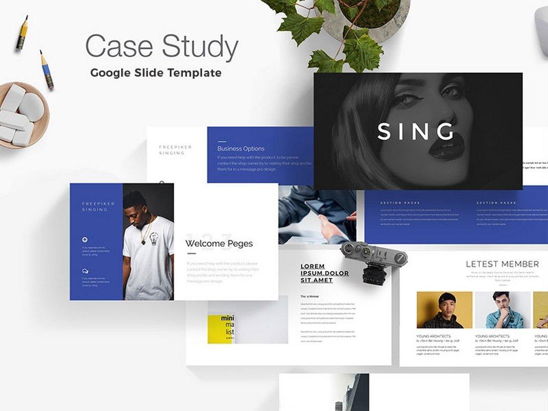 Case Study Minimal Google Slide Template