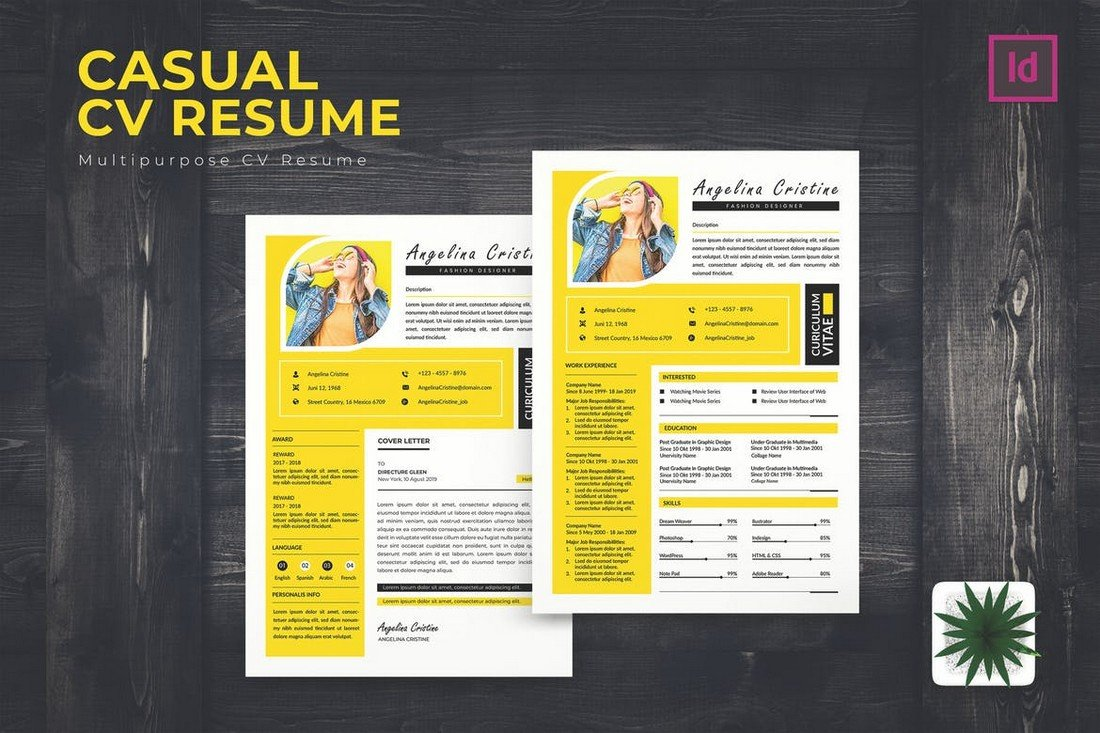 Casual-CV-Resume-Template-For-Creatives 50+ Best CV & Resume Templates 2020 design tips