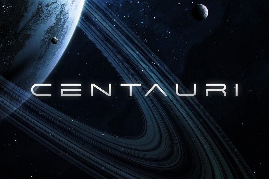Centauri - Futuristic Font