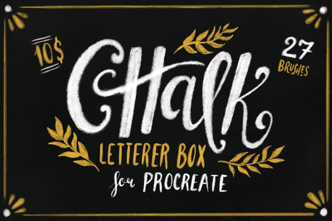 Chalk-Letterer-Box-for-Procreate 30+ Best Procreate Brushes design tips