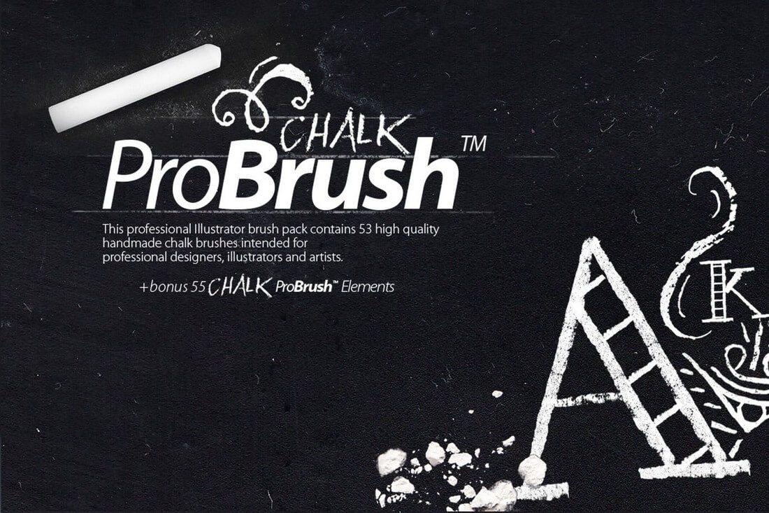Chalk-ProBrush-Vector-Elements 30+ Best High-Quality Photoshop & Illustrator Brushes design tips