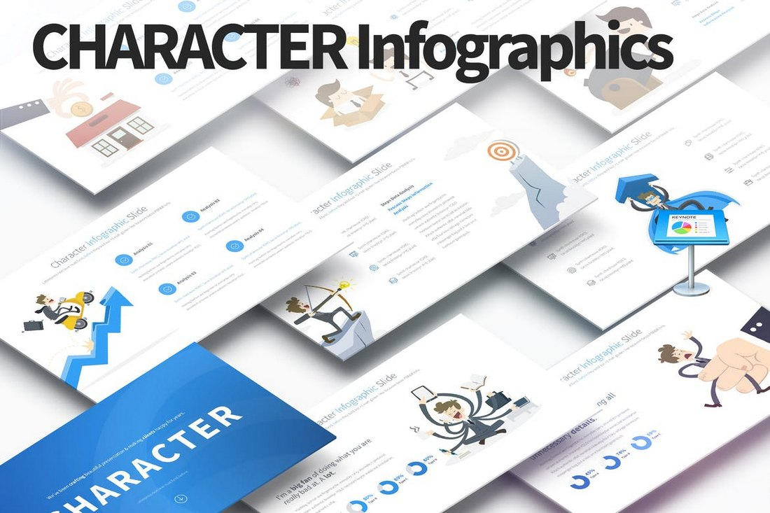 Character - Keynote Infographics Slides