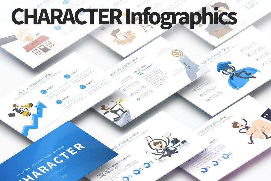 Character-PowerPoint-Infographics-Slides 40+ Best Infographic Templates (Word, PowerPoint & Illustrator) design tips