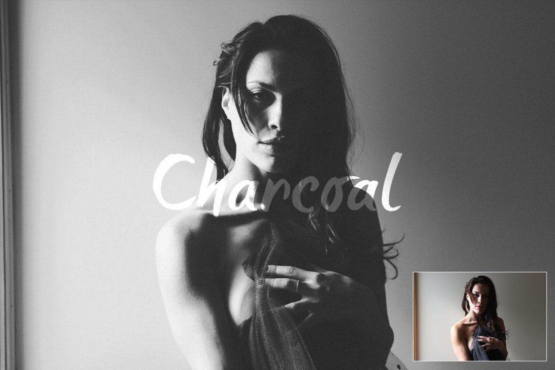 Charcoal-Action 20+ Best Portrait Photoshop Actions design tips