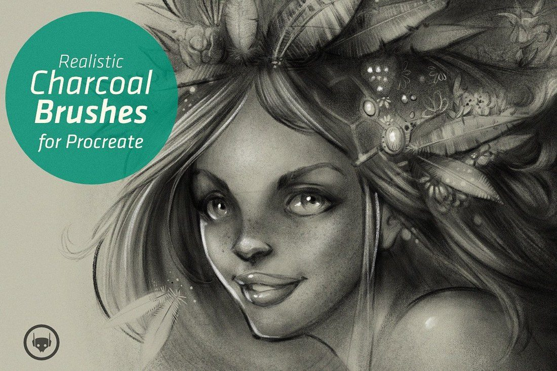 Charcoal-Set-Procreate-Brushes 30+ Best Procreate Brushes design tips