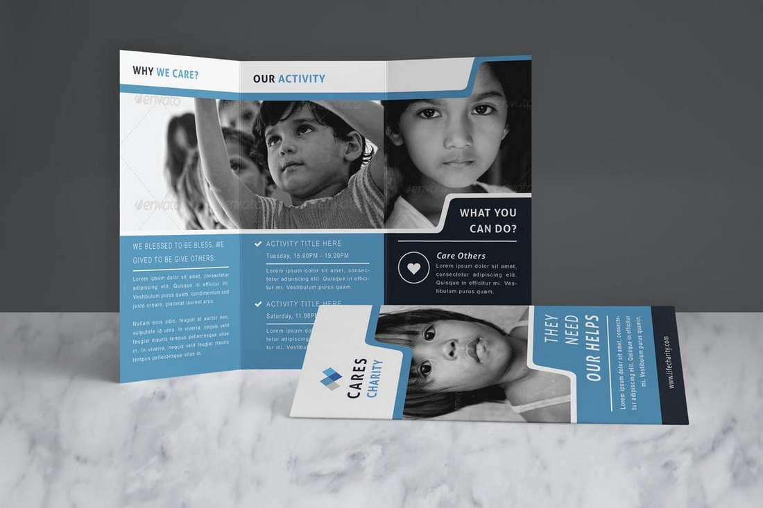 Charity-Brochure-Church-Bulletin-Template 20+ Church Bulletin & Newsletter Templates design tips