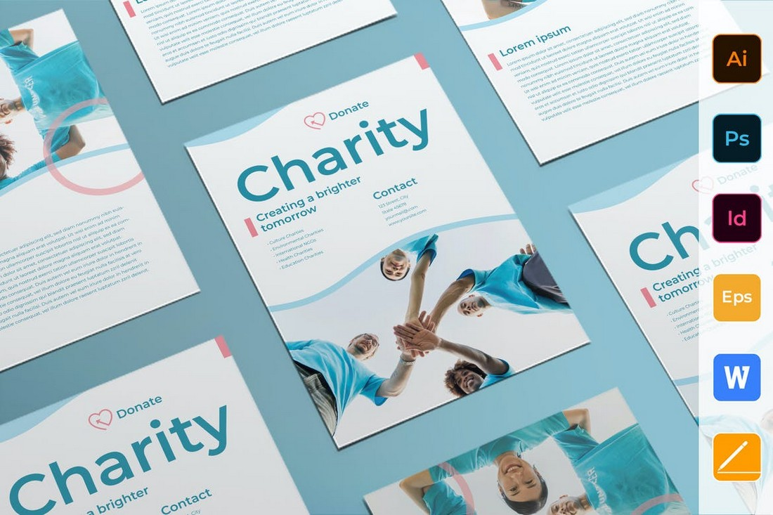 Charity & Non-profit Business Flyer Template
