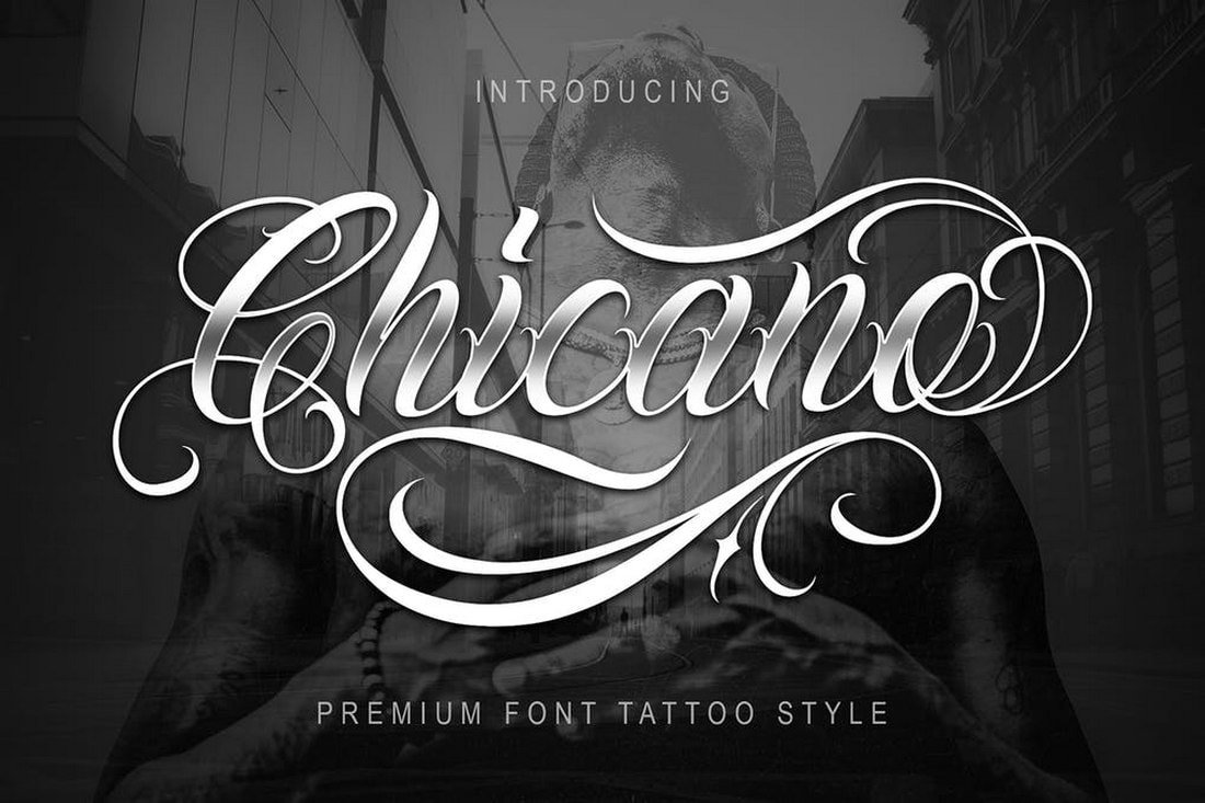 Chicano-Tattoo-Style-Font 30+ Best Tattoo Fonts & Lettering design tips  Inspiration|tattoo