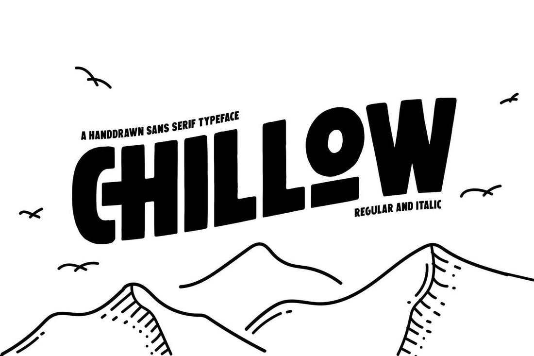 Chillow - Hand-Drawn Title Font