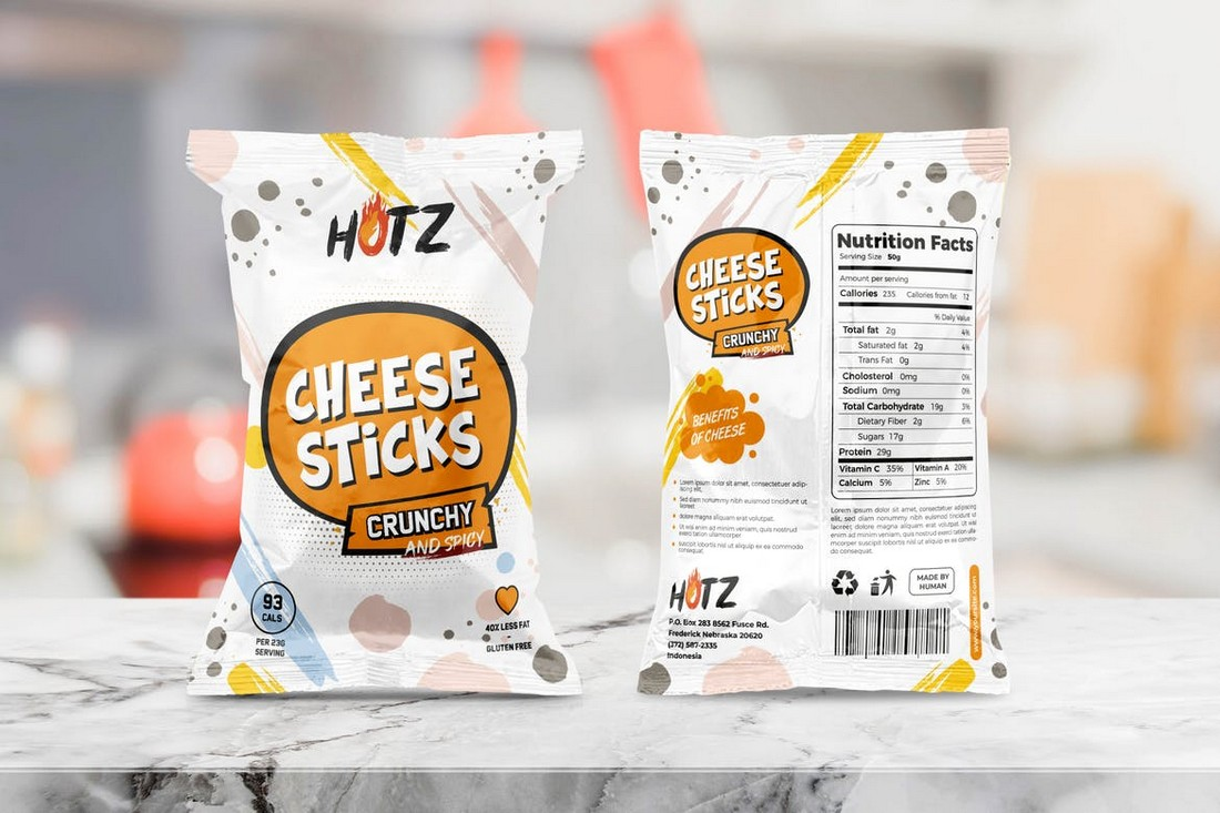 Chips & Snack Packaging Template