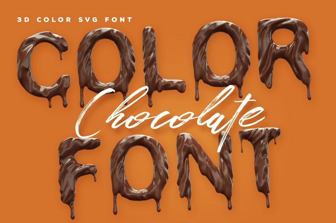 Chocolate - 3D Color Font