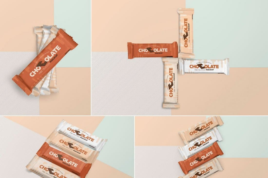 Chocolate Bar Packaging Mockups