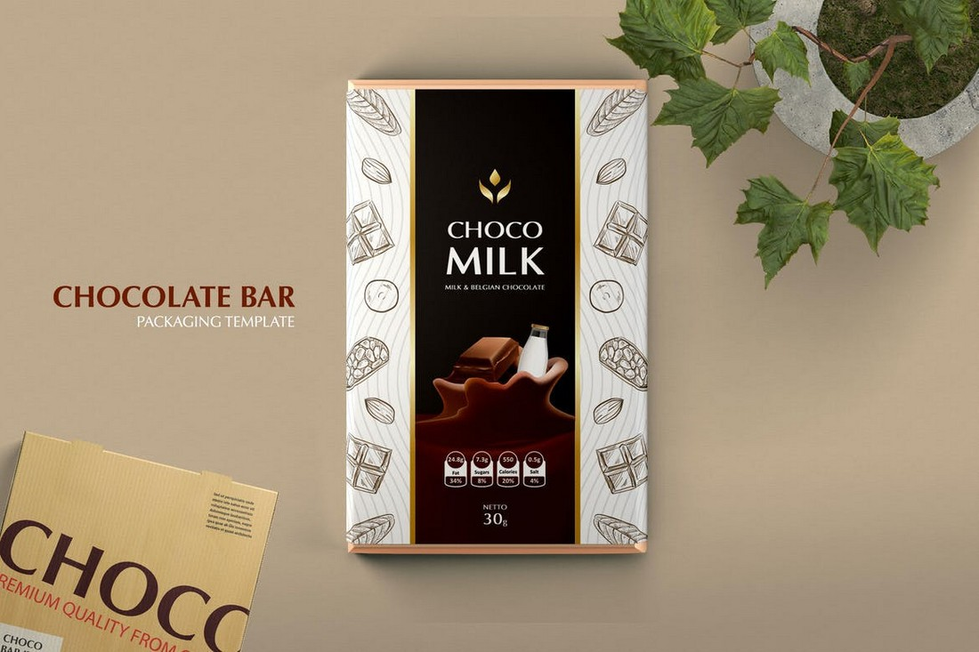 Chocolate Bar Packaging Template