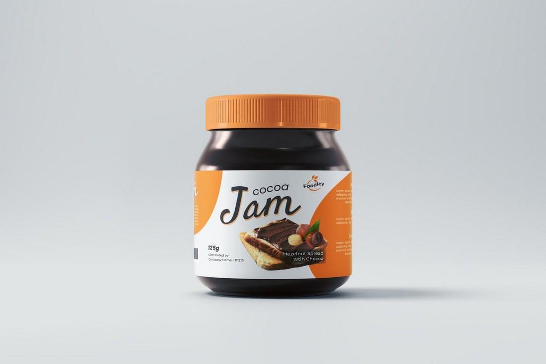 Chocolate & Jam Bottle Label Template