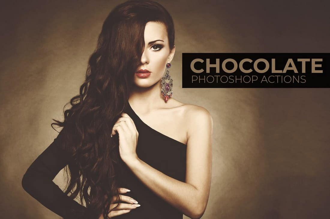Chocolate - Portrait Photoshop Actions