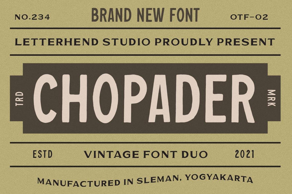 Chopader - Vintage Duo