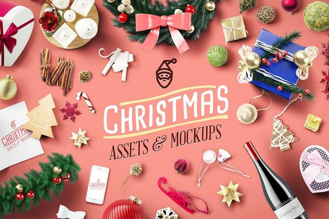 70 christmas mockups icons graphics u0026 resources design shack