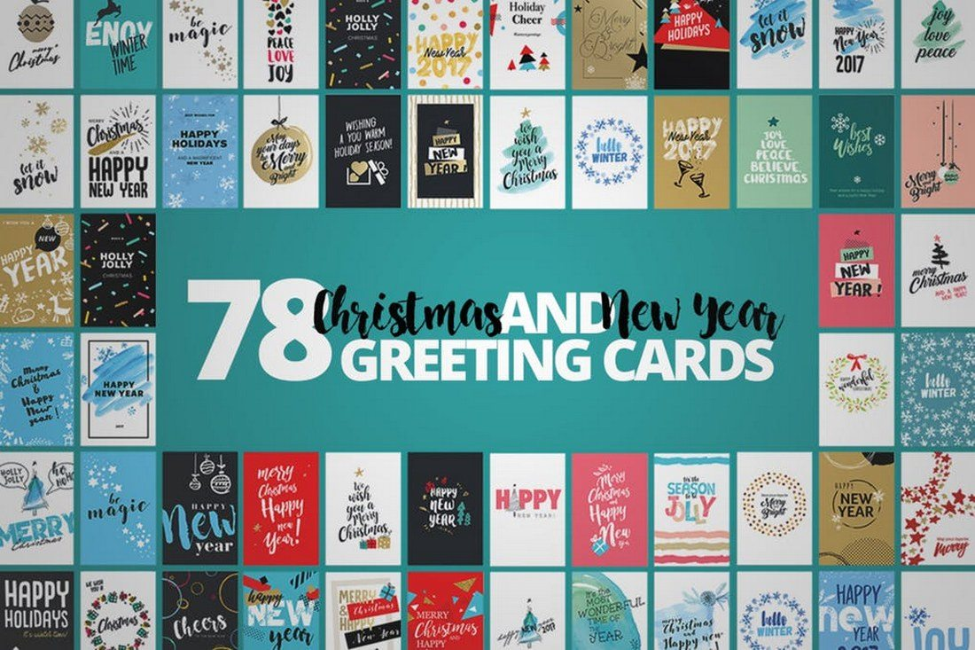 Christmas-Cards-Mega-Set 70+ Christmas Mockups, Icons, Graphics & Resources design tips